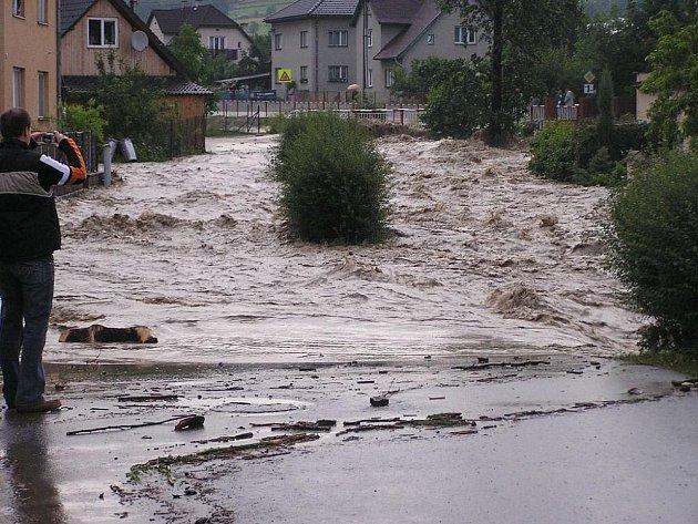 Povodeň na Valašsku.