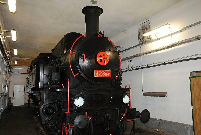 Historická lokomotiva Velký Bejček.