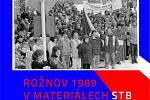 Plakát k besedě o listopadu 1989 v Rožnově pod Radhoštěm.