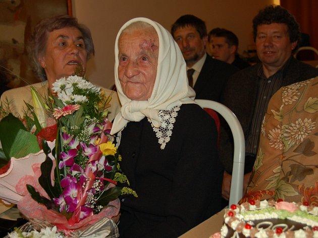 Sté narozeniny oslavila Anna Martinková