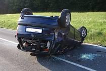 Dopravní nehoda mezi obcemi Bratřejov  a Pozděchov.