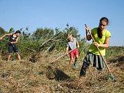 Mladí ochránci přírody z oddílu Falco pečují o unikátní mokřad ve valašskomeziříčské části Hrachovec.