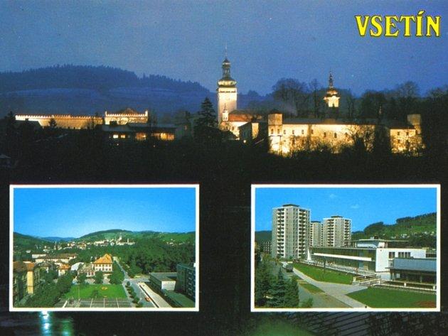 Pohlednice Vsetína od fotografa Roberta Elischera.