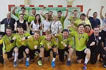 Házenkáři Vsetína se radují z postupu do celostátní první ligy.
