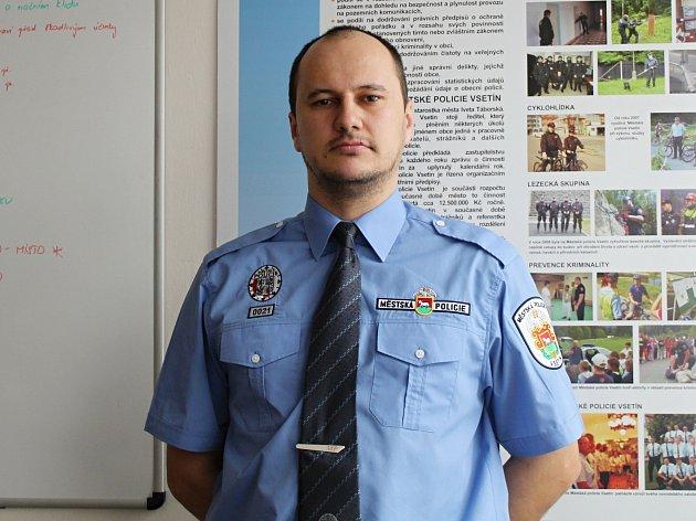 Strážník Městské policie Vsetín Roman Kutěj.