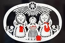 Výstava Papírové kouzlo vánoc v Muzeu regionu Valašsko ve Valašském Meziříčí.