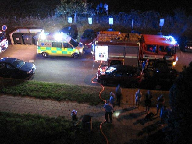 Požár v bytovém domě na ulici Sídliště v Zubří