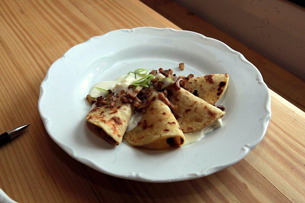 V obnovené národní památce Libušín sázejí na valašská jídla a domácí kuchyni z čerstvých surovin.