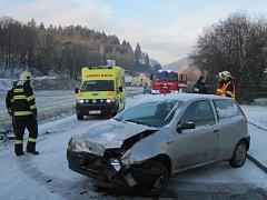 Dopravní nehoda v Bystřičce.