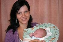 Lenka Veličková, Velký Újezd syn Jiří Velička, hmotnost 2,95 kg, narozena 16.7. 2010 ve Valašském Meziříčí