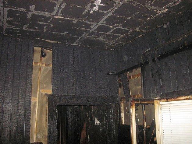 Požár domu ve Vsetíně