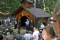 Slavnostní otevření kapličky zasvěcené sv. Hubertovi v Prlově