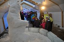 Ledové království v Rožnově pod Radhoštěm. Ilustrační foto z r. 2016