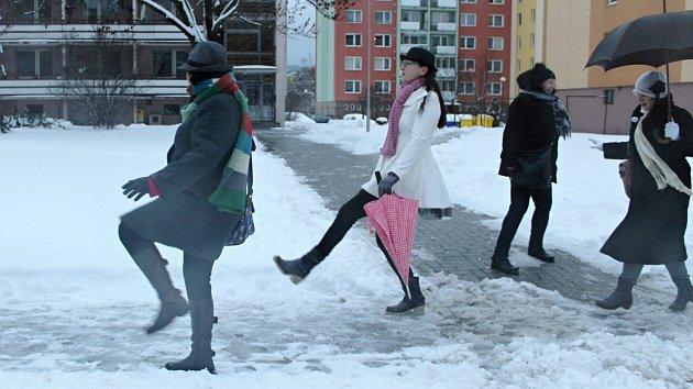 Sranda akce s názvem Švihlá chůze ve Vsetíně