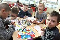 Komiksový workshop v knihovně.