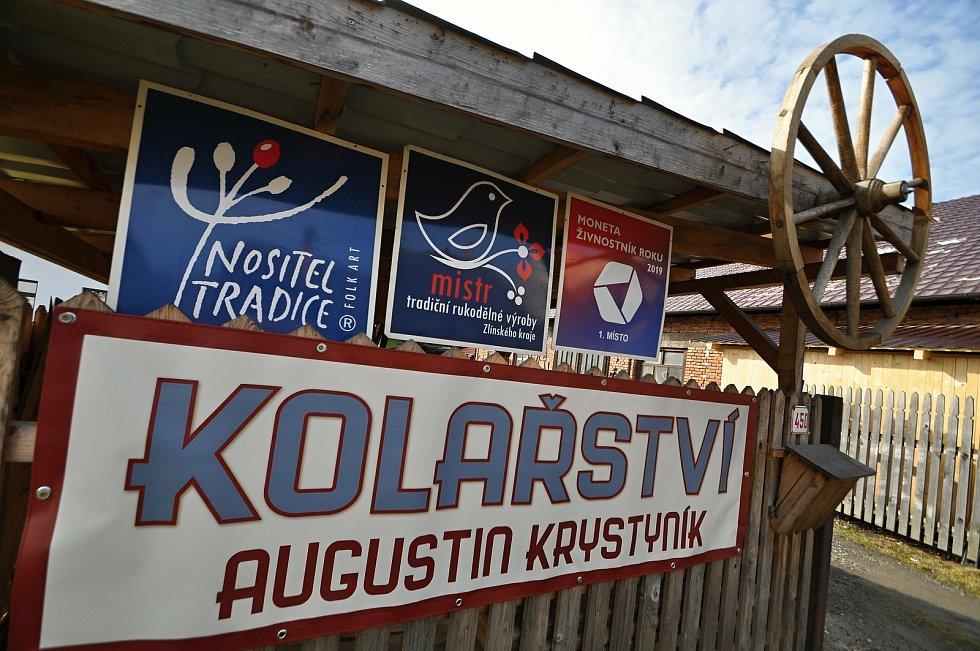 Nový Hrozenkov - vstup do kolářské dílny Augustina Krystyníka.