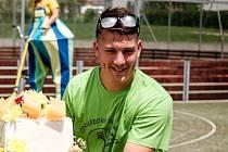Pavel Přikryl na čokoládové trepce, která je součástí sportovního dne v Zubří
