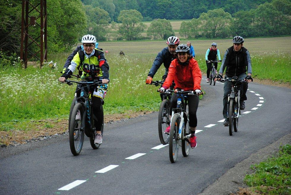 Slavnostní otevření nové cyklostezky mezi Brankami a Poličnou na Valašskomeziříčsku v pátek 29. května 2020.