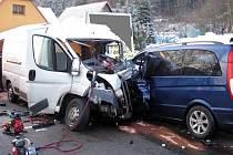 Dopravní nehoda se smrtelným zraněním v Rožnově pod Radhoštěm.