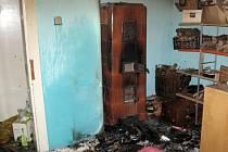 Požár rodinného domku ve Vidči na Rožnovsku