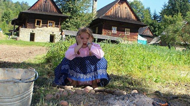 Valašská dědina v rožnovském skanzenu