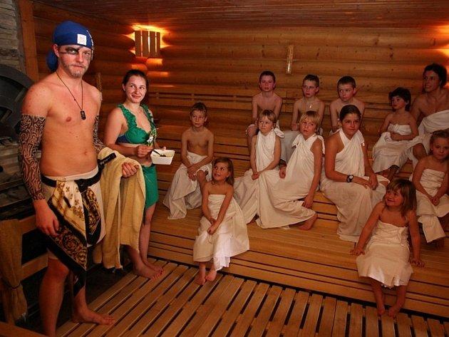 Dětské rituály ve welnes hotelu Horal.