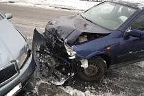 Dopravní nehoda v Hážovicích.