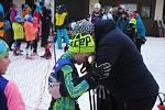Déšť dramaticky změnil podmínky, lyžařský přebor na Pustevnách ale v neděli 2. února 2020 nezhatil.