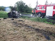 Tragická dopravní nehoda u Rožnova pod Radhoštěm; neděle 10. června 2018