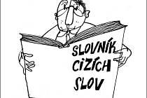 """Ukázka kresleného vtipu: """"Podivné, """"protekce"""" je původně cizí slovo ..."""""""