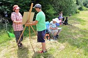 O týdenní Malířskou školu na Soláni byl letos opět velký zájem.Téměř třicítka malířů se sešla na oblíbené Malířské škole, která se letos už podeváté uskutečnila na Soláni od 3. do 9. července.
