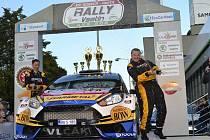Bonver Partr Rally Vsetín 2016. Vítězná posádka Rally Vsetín Martin Vlček - Jindřiška Žáková