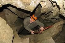 Interiér pseudokrasové jeskyně, Kněhyňská jeskyně.