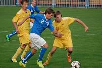 Fotbalisté Velkých Karlovic+Karolinky urvali ve středu 10. září v Havířově šťastnou remízu 1:1.