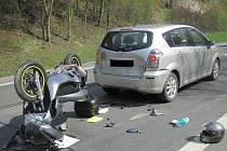 Dva řidiči skončili v péči záchranářů