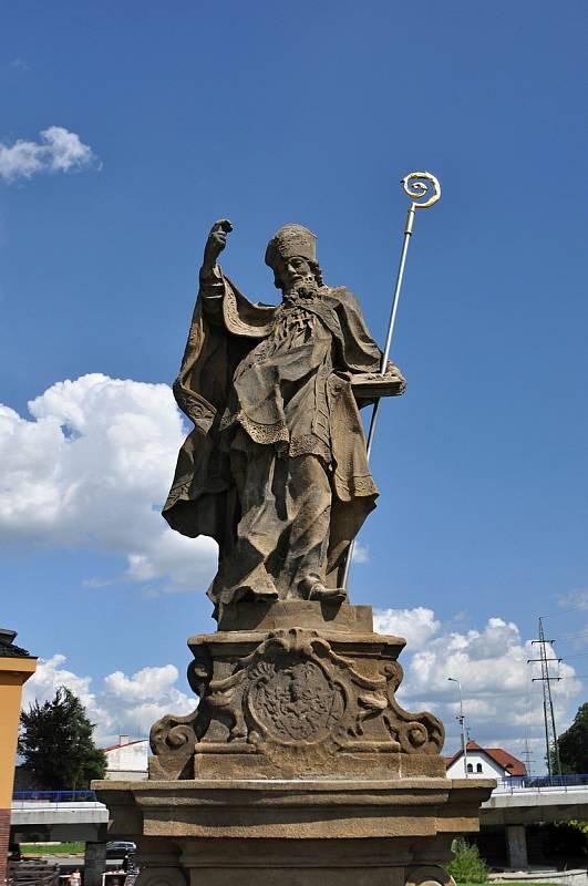 Valašské Meziříčí - socha svatého Libora v centru města