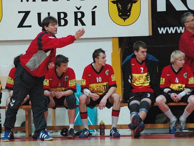 Trenér týmu Zubří SCM Jiří Mičola