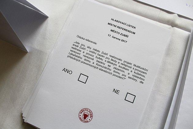 Zubřané měli v sobotu 17. června 2017 prostřednictvím místního referenda možnost rozhodnout, jestli se město pustí do výstavby multifunkčního areálu za více než 120 milionů korun