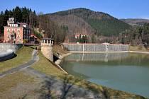 Exkurze na přehradě Bystřička na Vsetínsku při příležitosti Světového dne vody; Bystřička, Vsetínsko, sobota 21. března 2015