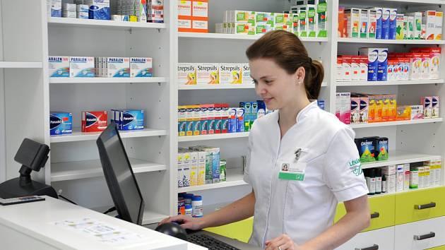 Nová Lékárna Duo v areálu Vsetínské nemocnice, a. s.; Vsetín, pátek 6. února 2015.