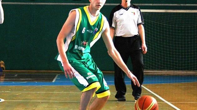 Basketbalista Valašského Meziříčí B i U20 Lukáš Riemer.