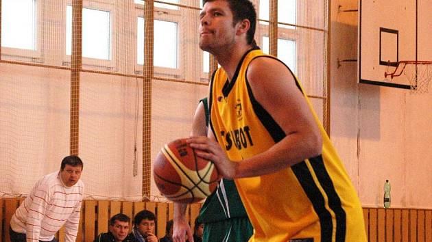 Basketbalista Valašského Meziříčí Ondřej Šiko.