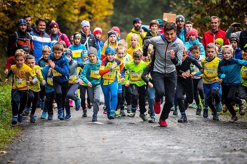 Podzimní Běhej Valachy, dětský závod.