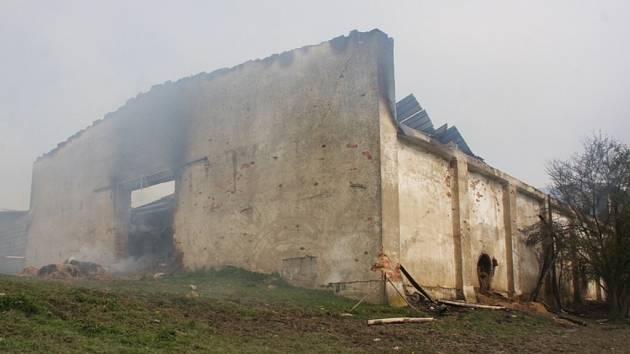 Hasiči zachraňovali ustájený dobytek v Polici.