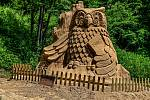 Pískoles 2021. Jedinečná výstava soch z písku na Pustevnách