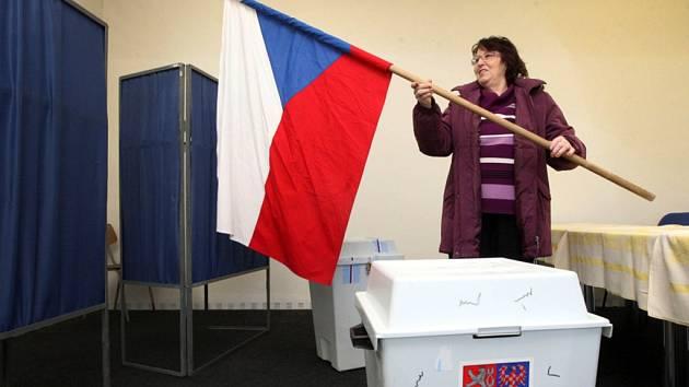 Příprava voleb v Poličné.