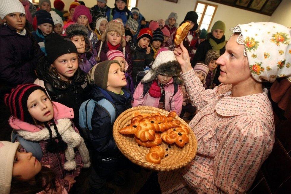 Vánoce ve Valašském muzeu v přírodě v Rožnově pod Radhoštěm.