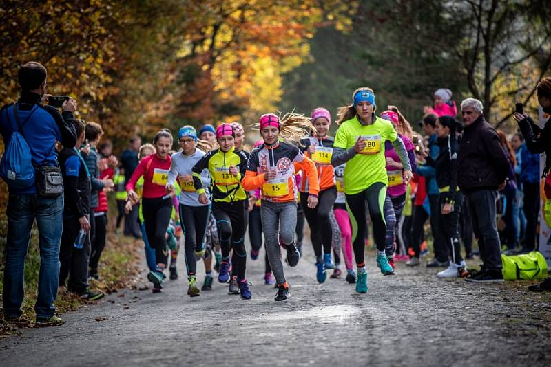 Běhej Valachy, podzim 2018: start dětí