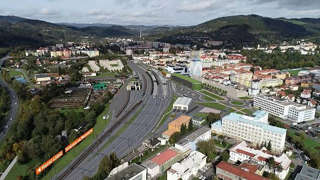 Vizualizace budoucí podoby železniční stanice ve Vsetíně.