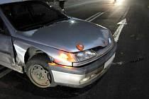 Nehoda na nadjezdu ve Vsetíně